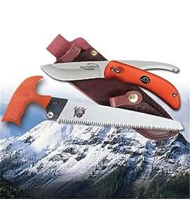 Outdoor Edge SZP-1 SwingBlaze-Pak Rotating 2-Blade Knife/Saw Combo with Easy To Locate Bright Orange Handles