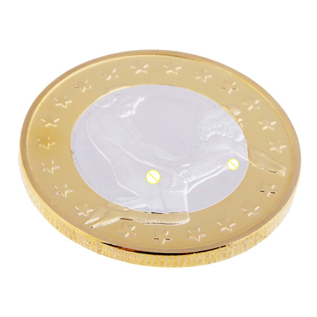 Homyl Sexe Pi/èces de Monnaie Euro Pi/èces Comm/émoratives Jouet pour Mariage Couples Amis # 1