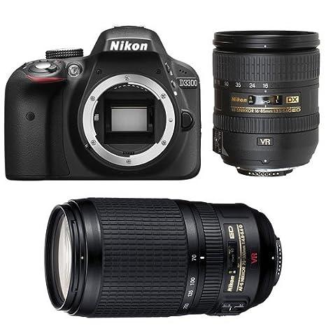 Nikon D3300 + 16-85 VR + 70-300 VR Juego de cámara SLR 24.2MP CMOS ...