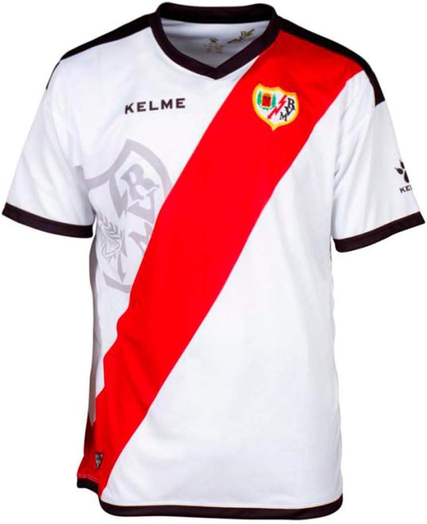 KELME Rayo Vallecano Primera Equipación 2018-2019, Camiseta, White-Red, Talla M: Amazon.es: Deportes y aire libre
