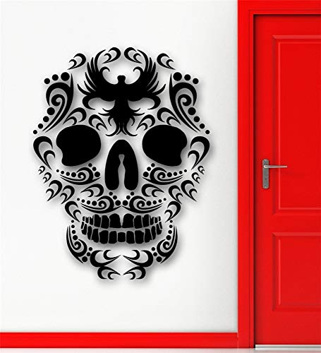 pabear Wall Quotes Decal Wall Stickers Art Decor Cool Tribal Tattoo Design Sugar Skull Death Home Room Designd