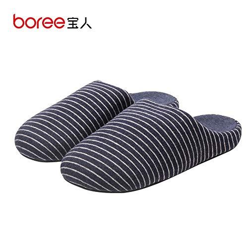 Baotou Fondo Grueso Rayas Shoes Y Outdoor Zapatillas Slip Con Indoor Night Interiores A De Rayas 5 on Cómodas Winter Algodón 43house Wall zBnxqvg