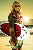 Posters: Star Wars Poster - Chewie Surfing Gear (36 x 24 inches)