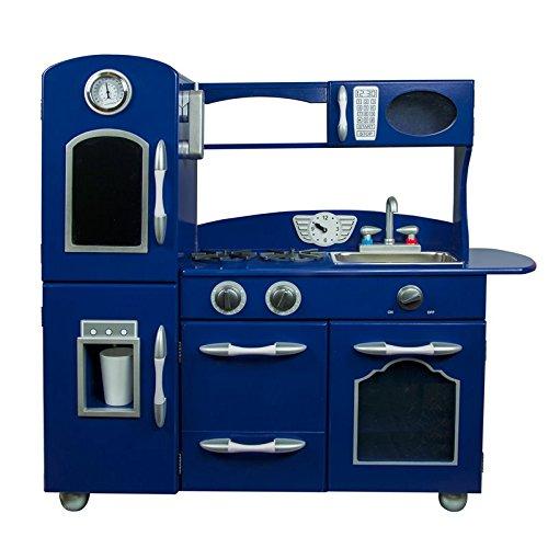 Teamson Kids Retro Play Kitchen (1 Piece) Toy, Navy Blue (1 Play Kitchen)