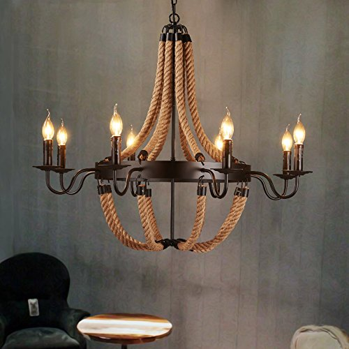 Eight Light Candle Chandelier - 8