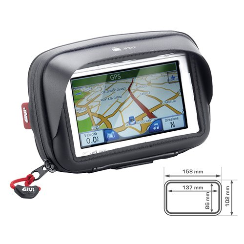 GIVI S954B Universal Motorcycle GPS/Smart Phone Holder 5 Inch Screen (Best Gps For Italy 2019)