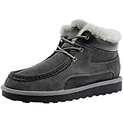 Rock Me Men's Baken III Suede Waterproof Lace Up Winter High Top Snow Boot