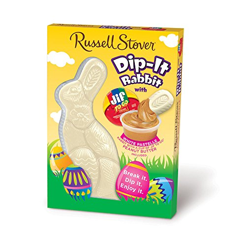 Russell Stover Solid White Pastelle Dip-It Rabbit with Jif® Peanut Butter Dip, 6 ()