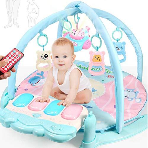 0-1歳のリモコンペダルピアノフィットネス飛行機の投影新生児パズル音楽照明玩具早期教育開発脳のバッテリー B07GJB5MVP, 京都 森乃家 127f2053