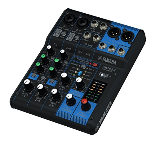 - YAMAHA 6-channel mixing console built-in digital effects MG06X