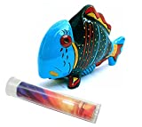 Blue Tropical Marine Fish Novelty Gift Eyeglass Holder Stand & Lens Cleaning Cloth
