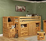 Chelsea Home Twin Junior Loft Bed with Storage