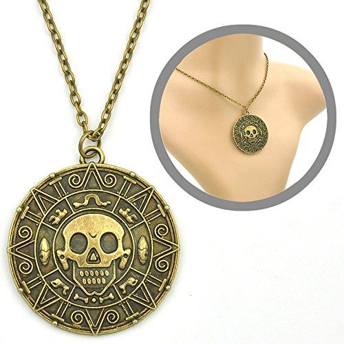 Fluch der Karibik Halskette mit Azteken Münze Anhänger: Amazon.de ...