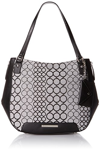 Nine West 9s Carryall, Black White/Black