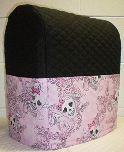 Quilted Pink Skulls Kitchenaid Lift Bowl Stand Mixer Cover (Pink)