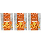 Moon Cheese 2 OZ, Pack of Three, Cheddar, 100% Cheese and Gluten Free