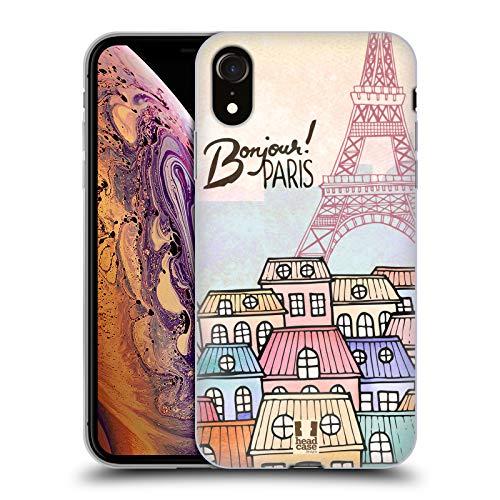 Head Case Designs Townhouses I Dream of Paris Soft Gel Case for iPhone XR ()