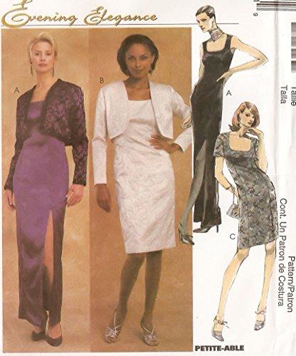 McCall's Evening Elegance sewing pattern 2392 dress with bolero jacket - Size 6-8-10