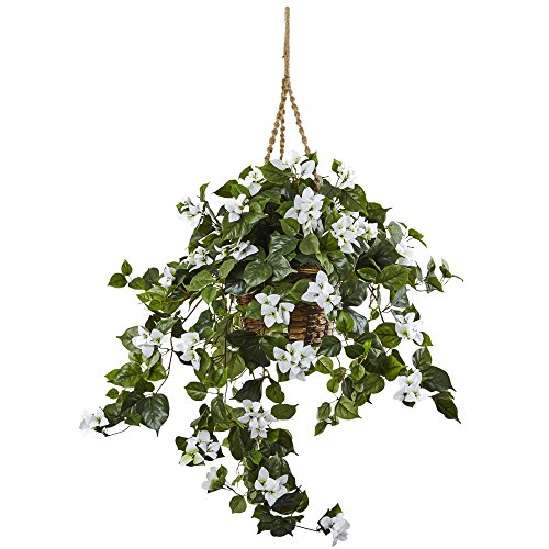 Bougainvillea Hanging - Nearly Natural Bougainvillea Hanging Basket