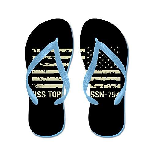 Cafepress Uss Topeka - Flip Flops, Grappige String Sandalen, Strand Sandalen Caribbean Blue