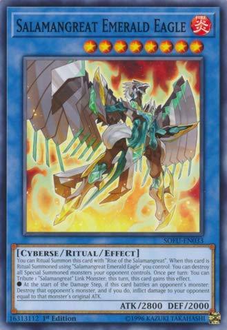 (Yu-Gi-Oh! - Salamangreat Emerald Eagle - SOFU-EN033 - Soul Fusion - 1st Edition - Common)