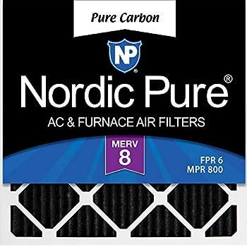 Nordic Pure 15x25x1 MERV 12 Tru Mini Pleat AC Furnace Air Filters 1 Pack
