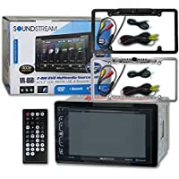 Soundstream VR-65B Car audio Double Din 2DIN 6.2 Touchscreen DVD MP3 CD stereo Bluetooth + Remote & DCO Waterproof Backup Camera with Nightvision