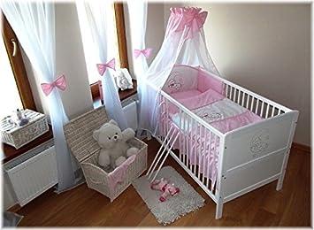 Babybett -Mond rosa- 140x70 umbaubar zum Juniorbett: Amazon.de: Baby