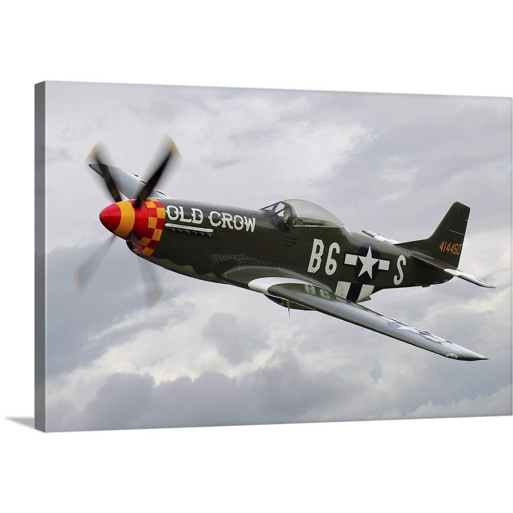 ダニエルカールソンプレミアムシックラップキャンバス壁アート印刷題名A North American P - 51d Mustang In Flight Over Vasteras、スウェーデン 36