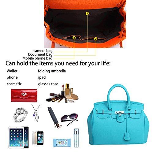 rotatorio la Lago Bolso bolso cartera Azul bolsa mujer Tisdaini las de de moda retro de de hombro hombro de casual bloqueo la señoras pHwB1Z