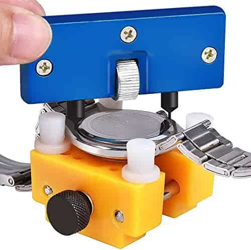 Dowswin Watch Back Remover Tool Watch Adjustable Opener Back Case Press Closer Remover Repair Watch Case Back Opener Repair Remover Holder Tool