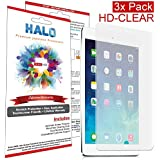 Halo Screen Protector Film Invisible (Clear) Apple iPad 2,3, & New 4 (3-Pack) - Premium Japanese Screen Protectors