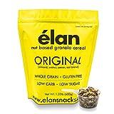 ELAN Healthy Breakfast Granola Cereal, Low Sugar Gluten Free Oatmeal Muesli Snack Food (Almond Pecan Walnut Coconut Oats, 1.33lb Bulk Bag)