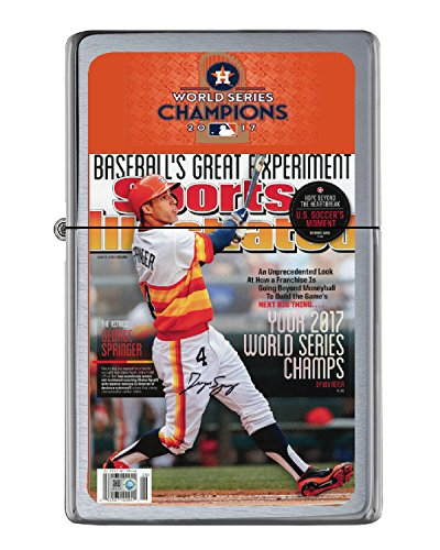 Houston Astros 2017 World Series Sports Illustrated Cover Lighter in collectible tin. Numbered Limited Edition to just (Limited Edition Individually Numbered)