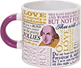 Shakespeare Love Coffee Mug - Shakespeare's Most Famous Quotes About Love All in One Place - Comes in a Fun Gift Box