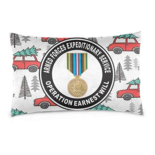 JIATONGJIATONGshentou Armed Forces Expeditionary Medal Operation Earnest Will Pillow Case Decorative Pillowcases Pillow Covers (Forces Armed Medal)