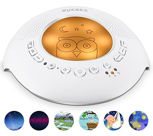 Sycees White Noise Sound Machine with Night Light by SYCEES