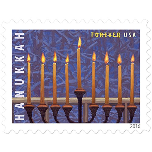 Hanukkah USPS Forever First Class Postage Stamp U.S. Holiday Sheet (100 Stamps) (5 Pack of - Postal International Rates Usps