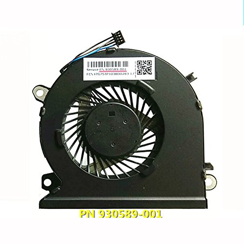HK-part Replacement Fan for HP Pavilion Power 15-CB 15-CB076TX 15-CB000 15-CB077CL 15-CB011TX 15-CB009TX 15-CB010TX 15-CB009TX 15-CB075TX 15-CB074TX 15-CB073TX Cpu Cooling Fan 930589-001 4-Pin 4-Wire by sywpart (Image #1)