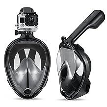 Full Face Snorkel Mask, GoPro Camera Compatible