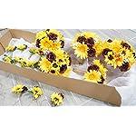 Sweet-Home-Deco-Silk-Sunflower-Burgundy-Rose-Babys-Breath-Mixed-Wedding-Bridal-Bridesmaid-Bouquet-Boutonniere-Corsage-Package-for-Autumn-YellowBurgundy-6W-Bouquet