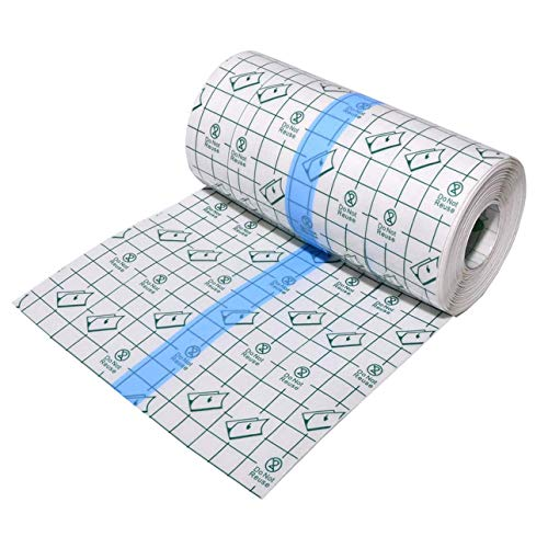 Tattoo Aftercare Waterproof Bandage 4 in x 8 yd Transparent Film Dressing Second Skin Healing Protective Clear Adhesive Antibacterial Bandages Tattoo Supplies Tattoo Bandage Roll
