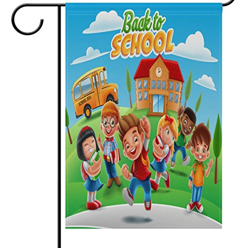 ShineSnow Back To School Garden Flag Decoration, First Day o