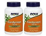 NOW Foods - Cordyceps 750 Mg 90 cap (Pack of 2)