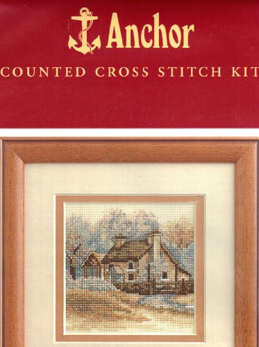 Sepia Country Cottage - Counted Cross Stitch Kit - Anchor #PCE304 ()