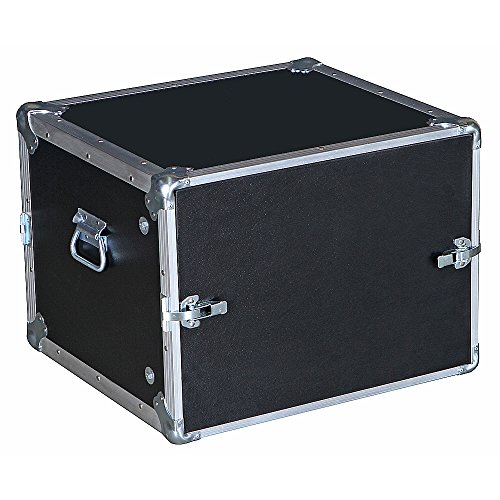 8 Space 8u 15 3/4 Deep Economy Flat Lids 3/8 Ply Heavy Duty ATA Style Compact Rack Case