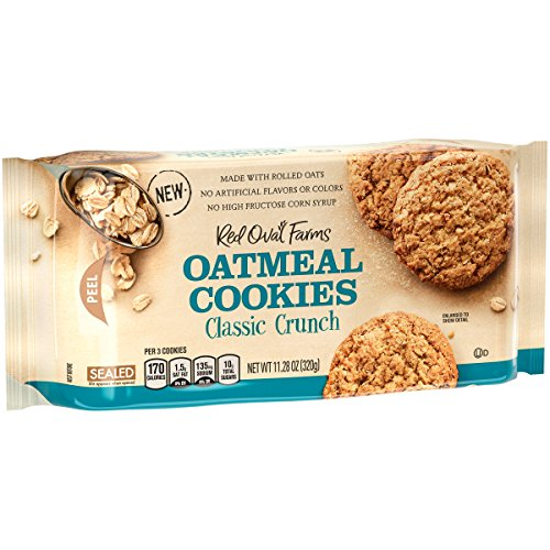 - Red Oval Farms Oatmeal Cookies, Classic Crunch, 11.28 Ounce, 12 Count