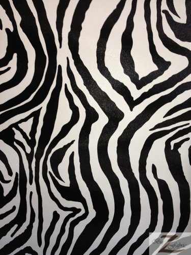 amazon com big z fabric zebra print faux leather vinyl fabric