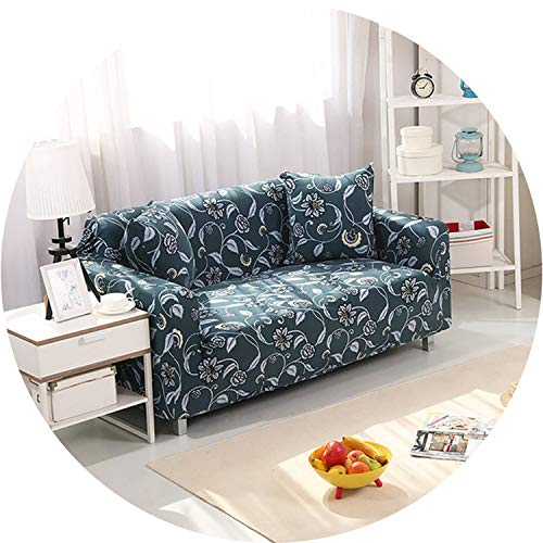 Little Happiness- 1PC Elastic Printed Sofa Covers Stretch Universal Sectional Throw Couch Corner Cover Cases for Furniture Armchairs Home Decor,Color 3,45-45cm Pillowcase-2 ()