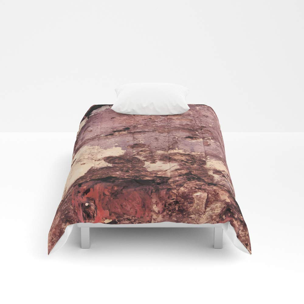 Society6 Comforter, Size Twin: 68'' x 88'', Grunge Wall Texture 5 by nessikk